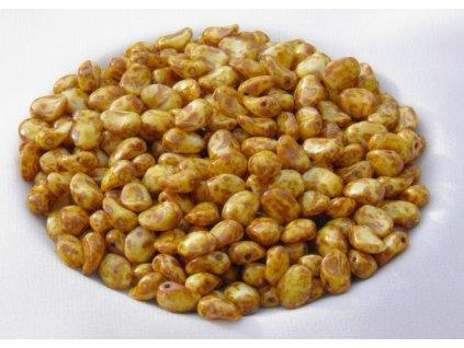 Korálky mačkané - lístek prohnutý 03000/86805 - 30 ks