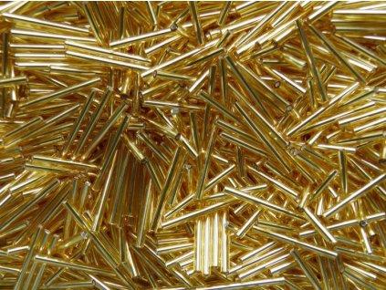 Korálky - rokajlové tyčky 50 mm - zlaté rovné 17050 (T94)