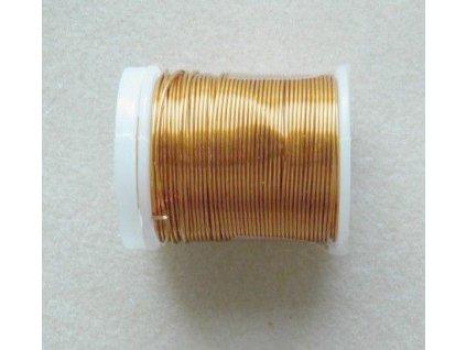 Barevný drátek 1 mm - barva písková měď