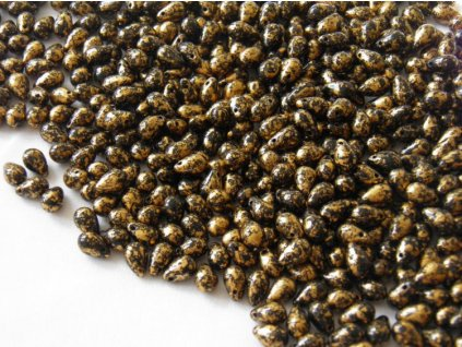 Korálky mačkané - kapka 6/9 mm - 23980GR