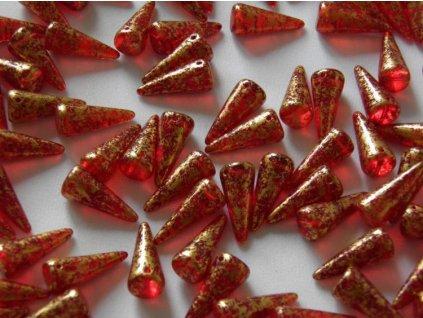 Korálky Spike Beads - trn 90080GR - 9 x 21 mm