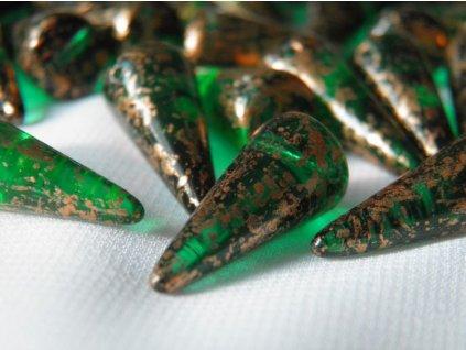Korálky Spike Beads  - trn 50720GR - 9 x 21  mm
