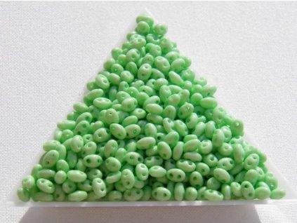 Korálky PRECIOSA Twin - zelený - pistáciový