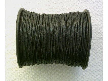 Bavlněná voskovaná černá