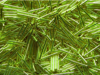 Korálky - rokajlové tyčky 25 mm - světle zelené  57220