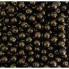 Korálky mačkané - kulička 10 mm - 23980 černá