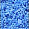 Korálky mačkané - BW12 - kostička modrá