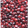 Korálky mačkané - BP15 - čočka červeno-černá