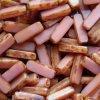Korálky mačkané - BP29 - obdélníček ploškovaný růžový