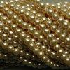 Korálky - voskované perle 6 mm krémová (DOVOZ)