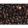 Korálky mačkané - MKL030 - čočka černá s avanturínem