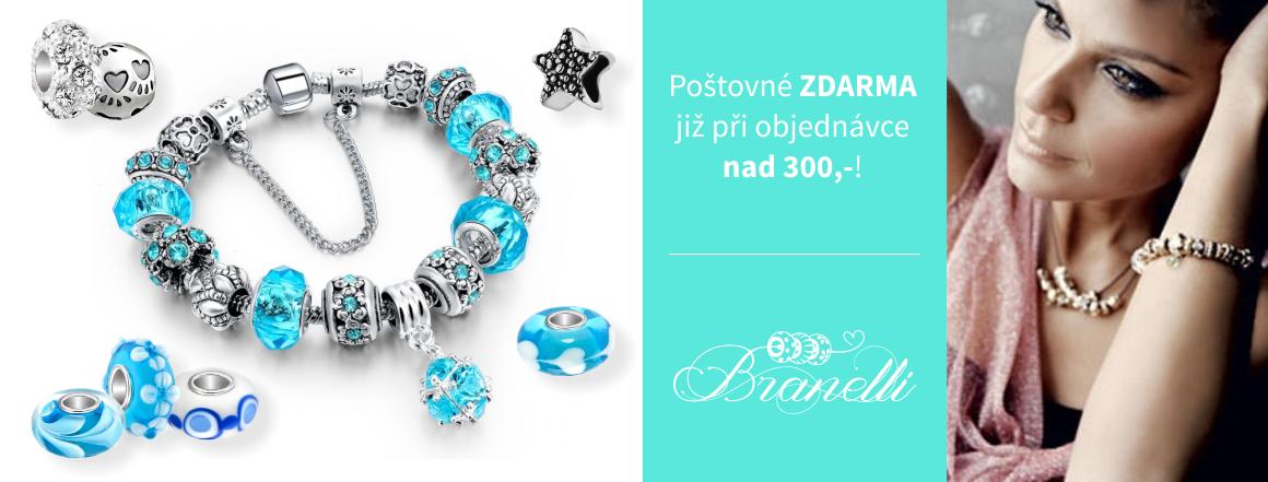 Poštovné nad 300Kč zdarma - KoralkyBranelli.cz