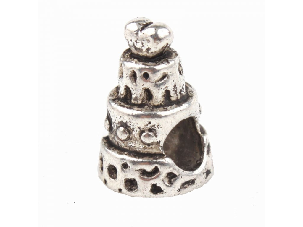 """Kovový korálek """"Svatební dort""""   Korálky Branelli"""