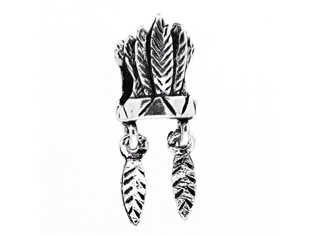 "Kovový korálek ""Indiánská čelenka""   Korálky Branelli"