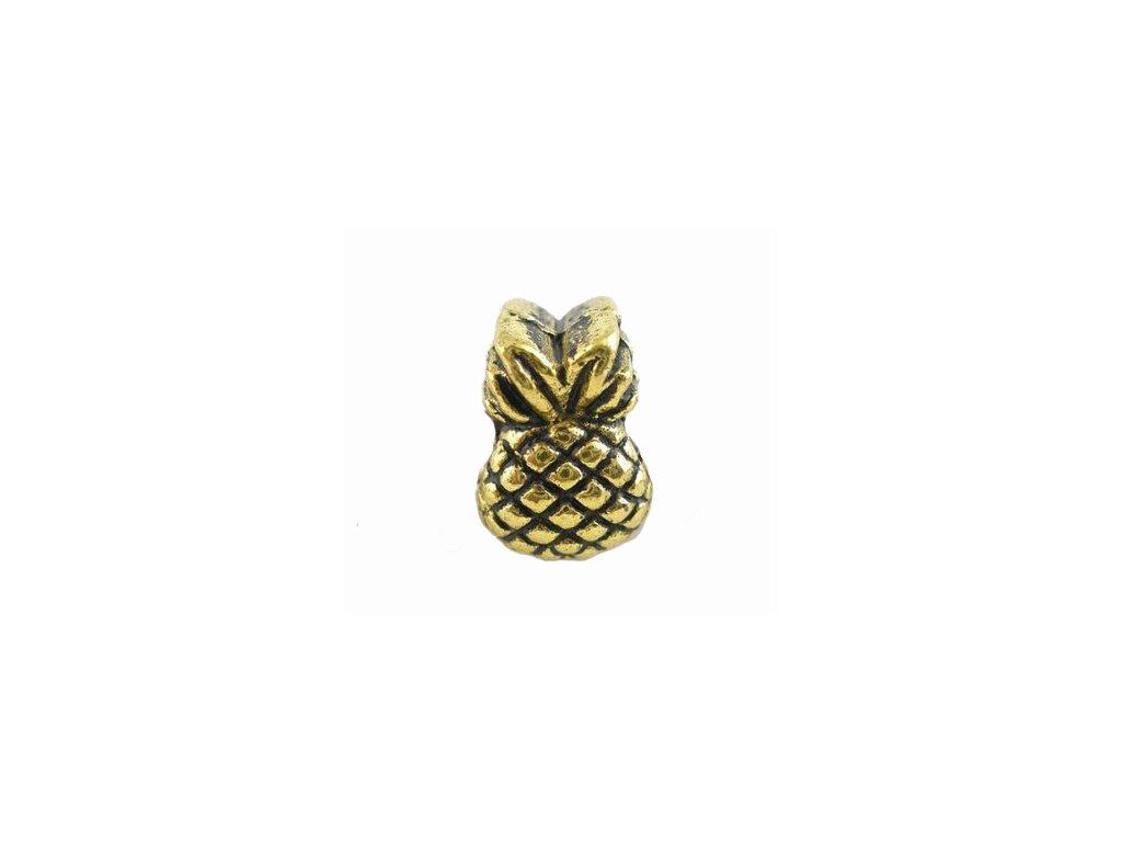 """Kovový korálek """"Zlatý ananas""""   Korálky Branelli"""