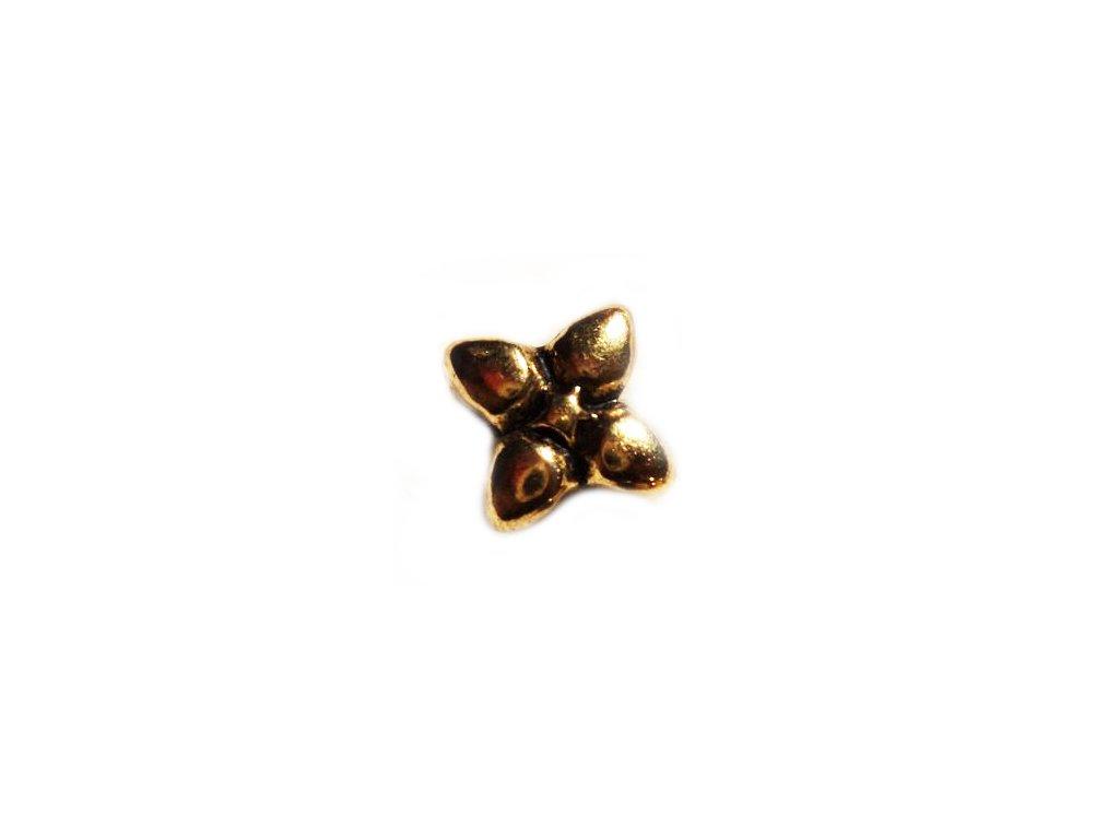 """Kovový korálek """"Zlatá květina""""   Korálky Branelli"""