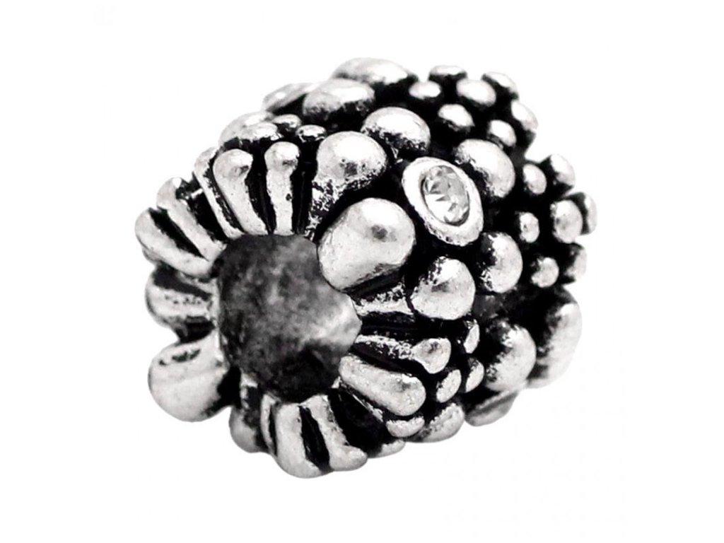 """Kovový korálek """"Mezičlánek s kamínky""""   Korálky Branelli"""