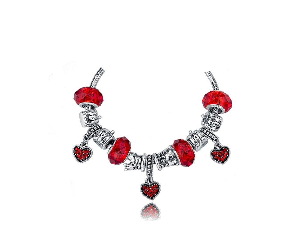 "Náramek ""Rudá láska"" | Korálky Branelli"