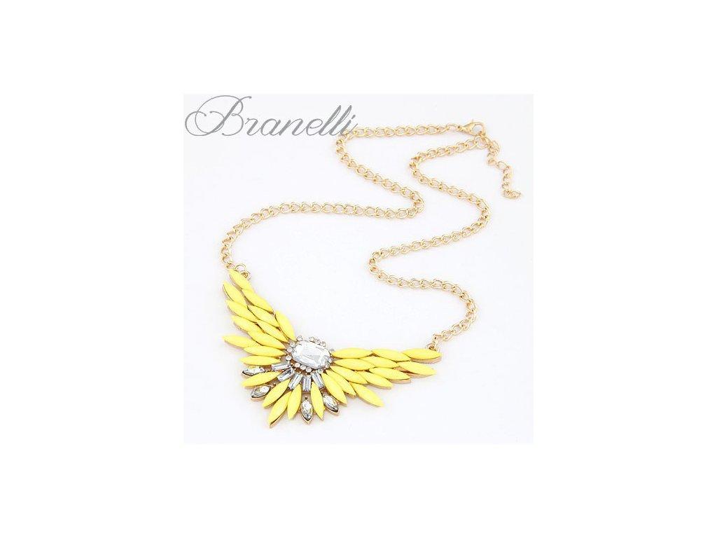 Náhrdelník Žlutá křídla