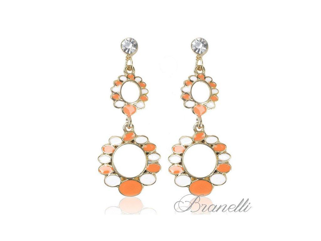 Náušnice Oranžové ovály