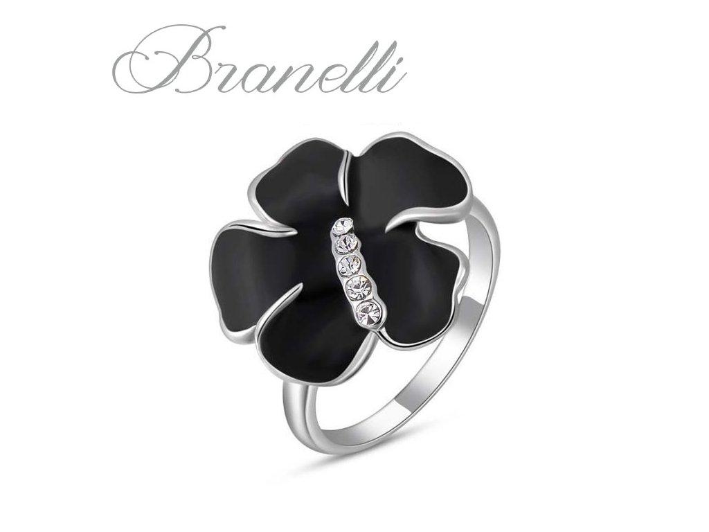 Prsten Černý květ S