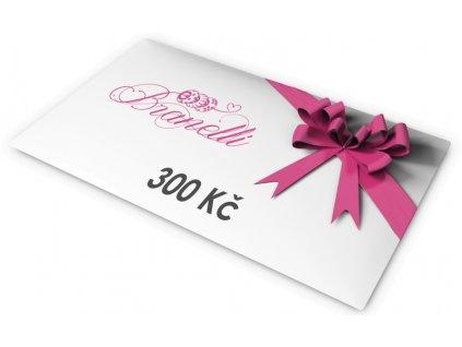 Dárkový poukaz na 300Kč | Korálky Branelli