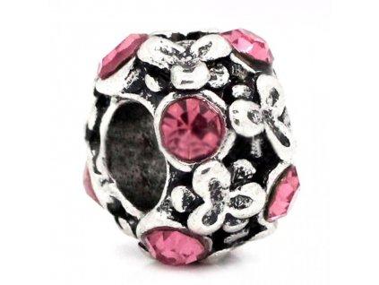 "Kovový korálek ""Růžový jetelíček"" | Korálky Branelli"