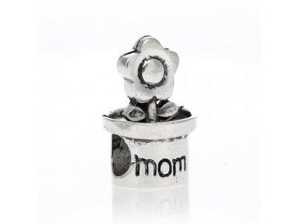 """Kovový korálek """"Květina pro maminku""""   Korálky Branelli"""