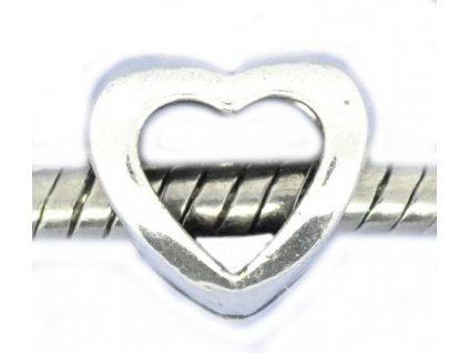 "Kovový korálek ""Stříbrná láska"" | Korálky Branelli"