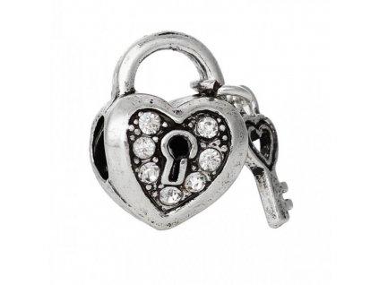 """Kovový korálek """"Klíč od mého srdce""""   Korálky Branelli"""