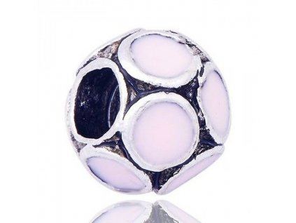 "Kovový korálek ""Růžové pastelové bubliny"" | Korálky Branelli"