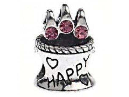 "Kovový korálek ""Narozeninový dort"" | Korálky Branelli"