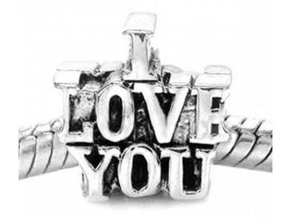 """Kovový korálek """"Miluji Tě""""   Korálky Branelli"""