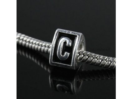 """Kovový korálek """"Písmeno C""""   Korálky Branelli"""