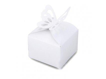 "Růžová krabička ""Bílý motýlek"" | Korálky Branelli"