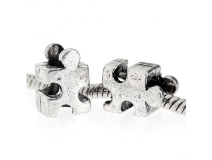 "Kovový korálek ""Puzzle""   Korálky Branelli"