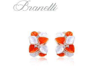 Náušnice Oranžová květina Z