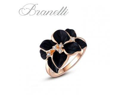 Prsten Černá květina Z