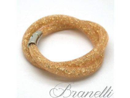 Náramek Stardust double zlatý