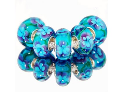"""Skleněný korálek """"Kouzelná modř""""   Korálky Branelli"""