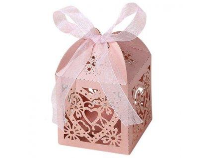 """Růžová krabička """"srdce a květiny""""   Korálky Branelli"""