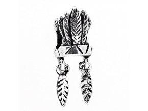 "Kovový korálek ""Indiánská čelenka"" | Korálky Branelli"