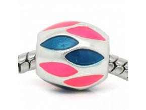 "Kovový korálek ""Růžovo modré vábení"" | Korálky Branelli"