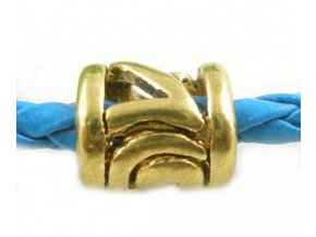 "Kovový korálek ""Zlatý mezičlánek"" | Korálky Branelli"
