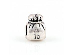 "Kovový korálek ""Měšec s dolary"" | Korálky Branelli"