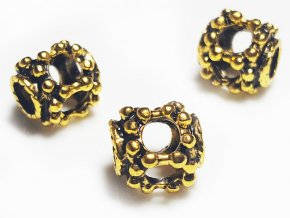 "Kovový korálek ""Zlatá lucernička"" | Korálky Branelli"