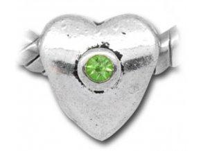 "Kovový korálek ""Zářivá láska zelená"" | Korálky Branelli"