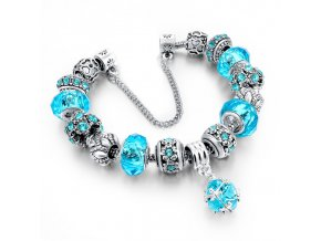 "Náramek ""Modrý poklad"" | Korálky Branelli"