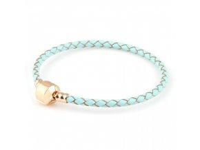 Náramek modrý se zlatem 18,5cm | Korálky Branelli