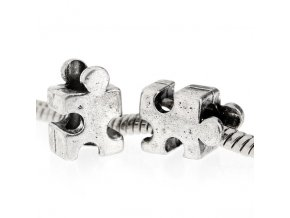 "Kovový korálek ""Puzzle"" | Korálky Branelli"